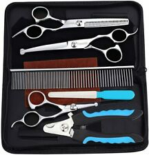 8pcs/set Dog Grooming Scissors Kit, Trimmer Kit Curved Shears Toe Nail Clippers