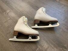 Jackson Mystique Girls White Ice Skates Size 4 C