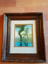 "Vintage Maxfield Parrish ""THE FISHERMAN  & GENIE"" Printed 1933 Original Framed"