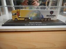 Herpa Scania 164 L V8 Scania Infomate in Yellow/White on 1:87 in Box