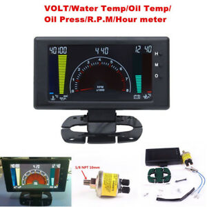 Multipurpose LCD Digital 6 in1 Car Auto Meter Oil Pressure Gauge VOLT Water TEMP