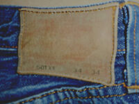 Levi Strauss BIG E Original 1940s Vintage 501XX Mens Jeans Selvedge Pocket E6