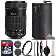 Canon EF-S 55-250mm IS STM Lens For Canon T5, T5i, T6, T6i, T6s - 32GB Kit