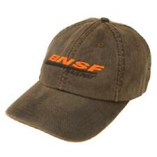 BNSF Wax Wear Cap - Brown - Baseball Style Cap - 100% Cotton - Adjustable   *NEW