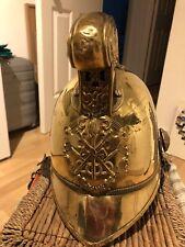 More details for merryweather brass fire helmet