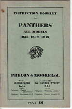 Panther All Models 1938 1939 1946 Original Instuction booklet (Handbook)