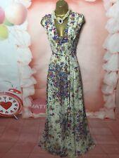 TED BAKER christine  MAXI/FULL LENGTH SILK EVENING OCCASION DRESS Size 2 uk 12