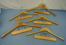 LOT OF 5 SETWELL COMBINATION SUIT PANT SKIRT HANGERS WOODEN