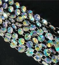 33FT 10m AB Color K9 Crystal Beads Garland Chandelier Hanging Wedding Curtain