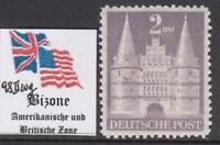 GERMAN BIZONE American & Brit occ  Castles 2Mk Mi 98/IIwg  perf 11 cv 75$ MNH**