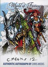 Breygent World of Fantasy Autograph Z-Card ZA-CM1 by Chris Meeks
