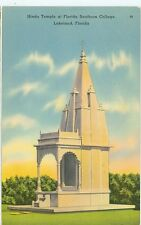 FLORIDA, LAKELAND HINDU TEMPLE SOUTHERN COLLEGE PM 1941 LINEN #28  (FL-L)