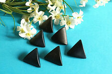 "1275B/Stunning Buttons "" Triangle "" Black Lot 6 Buttons Period 1960/70"