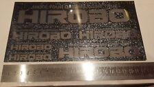 Hirobo Vintage Black Metallic Foil Decal Sticker Sheet Collectors 230mm x 117mm