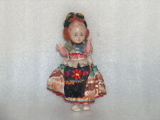 VINTAGE PLASTIC DOLL IN HUNGARIAN NATIONAL COSTUME