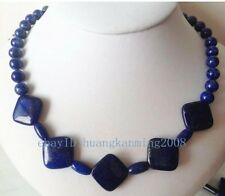 beads chain strand necklace for women Natural Egyptian Lapis Lazuli stone round