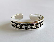Sterling Silver (925) Adjustable Small Stars Toe Ring ! Brand New !