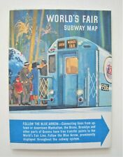Vintage 1964 New York Subway Map Transit System Guide World's Fair Chemical Bank