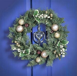 Gold Berry and Cone Christmas Wreath, 45cm - RRP £25 - NOW JUST £10.99