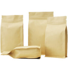 Brown Craft Paper Strong Gripseal Bags w/ Gusset Stand-Up Pouch BPA/Smell Free
