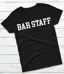 Bar Staff T-Shirt - Pub Festival Club Workwear Uniform Top Tee