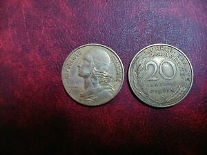 Currency 20 Cents France, Various Years Choose The Yours