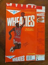 CHICAGO BULLS MICHAEL JORDAN WHEATIES BOX 1988 EXCELLENT RARE
