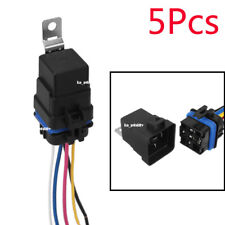 5x Automotive Car Relay Switch Harness 5Pin SPDT Waterproof 30A/40A DC12V Wires