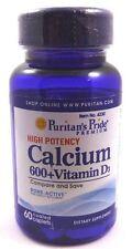 Calcium Carbonate 600 mg + Vitamin D 250 IU 600 mg  60 Tablets Strong Bones