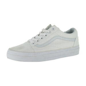 """Vans Off the Wall """"Canvas Old Skool"""" Sneakers (True White) Skateboarding Shoes"""
