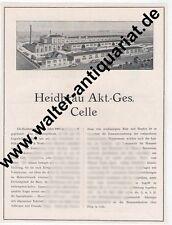 Heidbräu Celle Bier Brauerei Große Werbeanzeige von 1924 Werbung Reklame ad