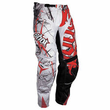 Shot 12 Flexor Motorbike Motorcycle Trousers Pants Vented Heavy White/Red 38