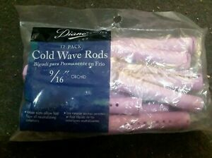 """Cold Wave Rods Curlers Diane CW3  9/16""""  Hair Perm 12-pieces -Orchid"""