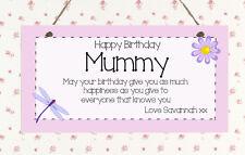 Beautiful Shabby Birthday Custom Mum Nanny Auntie Present Gift Sign Plaque Chic