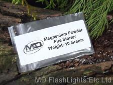 10 GRAMS OF MAGNESIUM POWDER FOR FIRE LIGHTING IDEAL FOR SURVIVAL BUSHCRAFT KITS