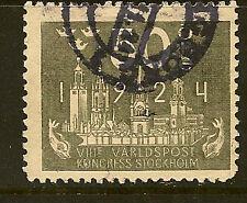 SWEDEN: 1924 UPU  50 ore grey SG 155 used