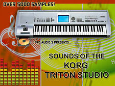 Korg Triton Studio Sounds - Sample DVD - Kontakt  + Wav   -   Over 5000 Samples