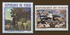 TCHAD 1968 PA N°47/48** Tableaux de Rousseau, Paintings CHAD MNH
