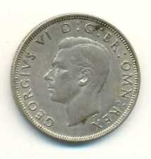Great Britain UK Silver 1/2 Crown 1944 AU