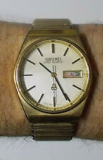 Seiko Lord Quartz gold plated 7853-7010 5 jewels 7853A men's watch works great