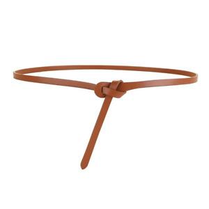Knot Women Belt Genuine Cowskin Leather Thin Ladies Belt for Dress Skinny Strap