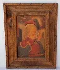 Fernando Botero Print REGAL Woman Enhanced Oil On Canvas Framed