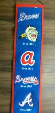"""COOPERSTOWN COLLECTION Atlanta Braves Logo 8"""" X 32"""" Wool  Banner/Pennant"""