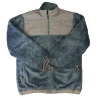 The North Face Girl's Blue And Gray Polartec Full Zip Denali Fleece Size XL