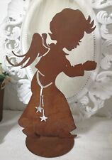 Patina Angel Christmas Christmas Decor Rust 15x9 13/16in Shabby Vintage Landhaus