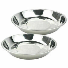 Kichen Camping Stainless Steel Tableware Dinner Plate Silver Conta HOT New Q2G1