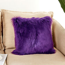 1x Throw Pillow Cover Case Faux Fur Fluffy Plush Shaggy Sofa Cushions Home Decor