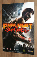 Final Fight Streetwise very rare Promo Poster 59x42cm Playstation 2 Xbox Capcom