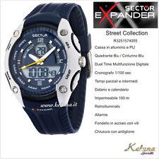 Orologio Sector Expander Street R3251574005 -89- Dual Time- 10Atm- Crono Digital