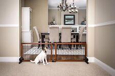 Free-Standing Wooden Pet Gate ~ Dog Safety Fence Indoor ~ Wood Barrier Step Over